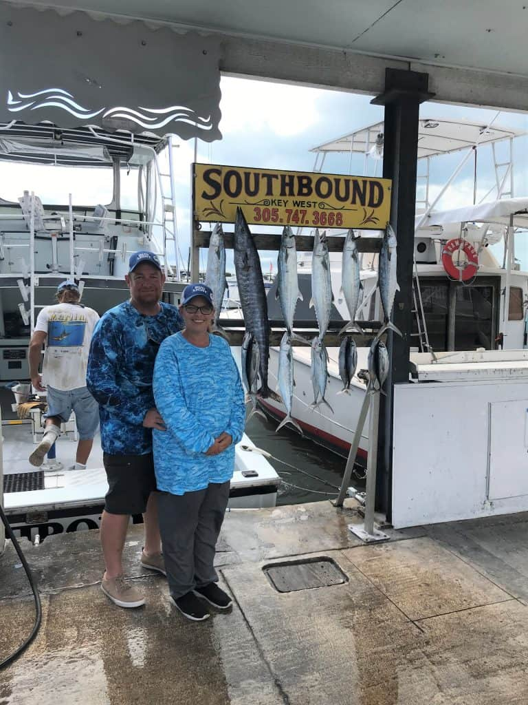 Wahoo and some nice Mackerels caught in Key West fishing on the charter boat Southbound