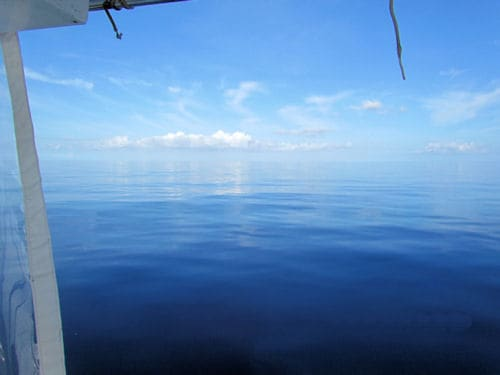 Calm seas 20 miles offshore  of Key West Florida