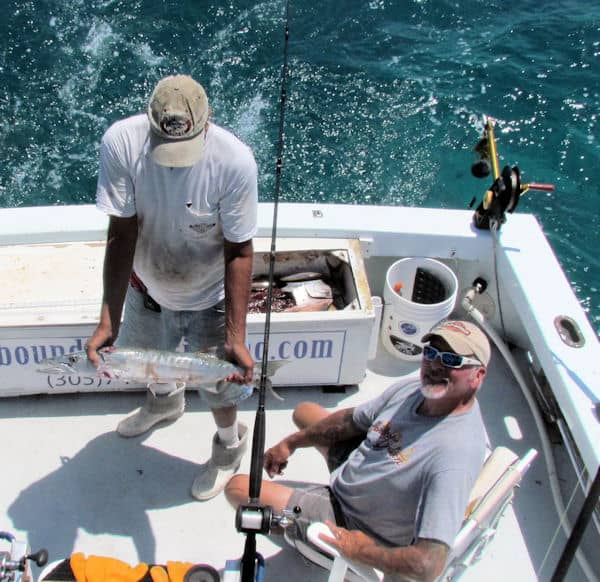 Barracuda caught and released in Key West Florida
