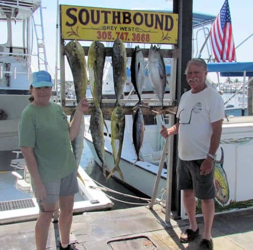 Dolphin and Black Fin Tuna caugth offshore with Southboun Sportfishing