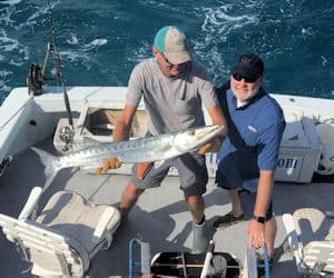 Big Barracuda caught and released in Key West fishing on the Southbound
