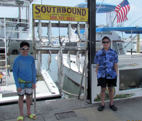 Big Kingfish and Spanish mackerel caught in the Gulf of Mexico on the Southbound