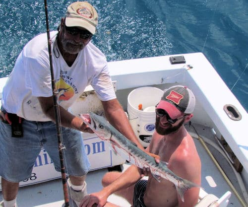 Barracuda caught and releaseed in Key West fishing with Southbound