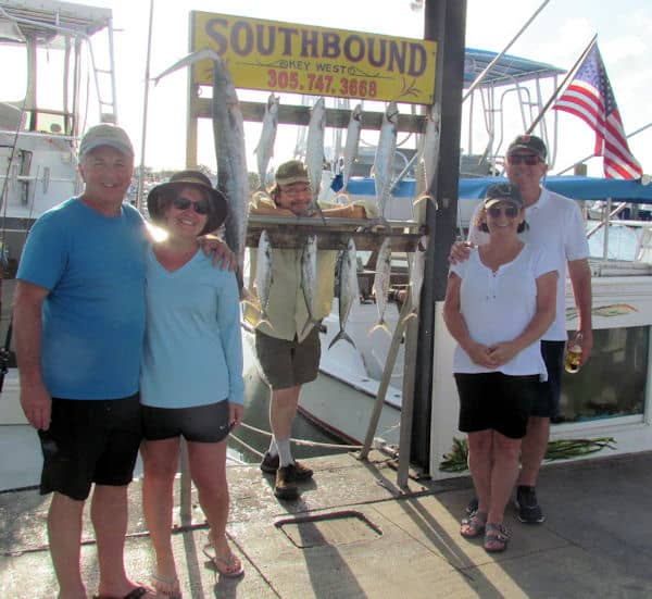 Kingfish and Spanish mackerel caught with Southbounb sportfishing in the Gulf of Mexico