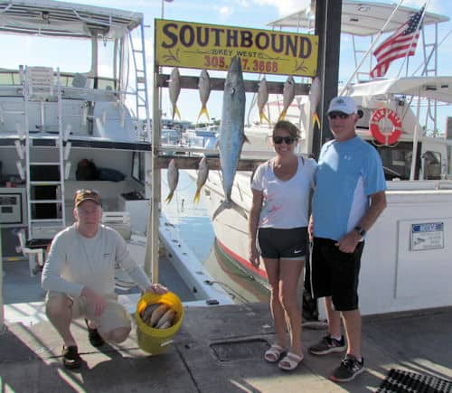 Basket of Yellowtail Snapper caught in Key West fishing with Southbound Sportfishing