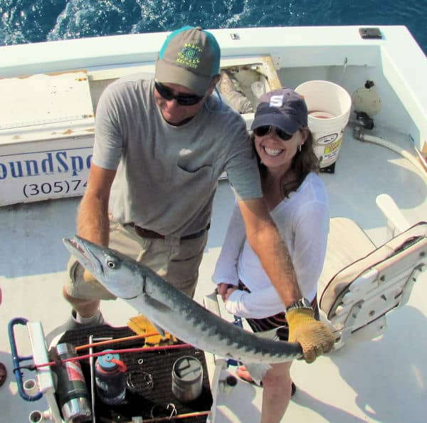 Barracud caught and released in Key West fishing on Key West Charter fishing boat Southbound