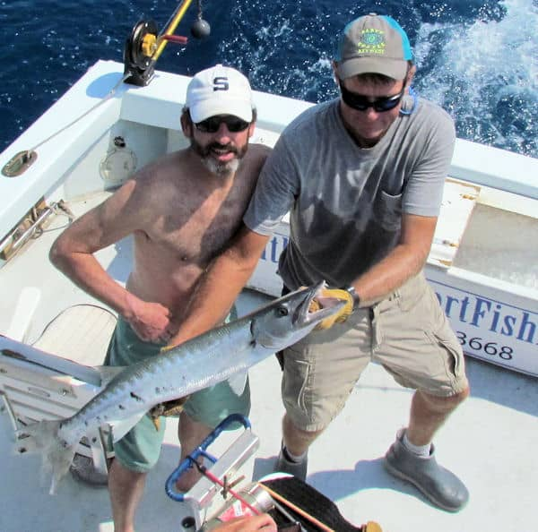 Barracud caught and released in Key West fishing with Southbound Sportfishing