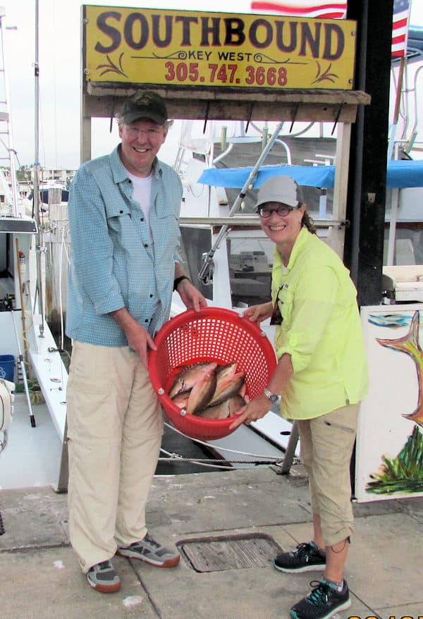 Yellow Tail Snapper caught in Key West on charter Fishing boat Southbound