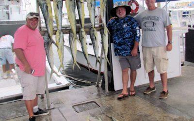 Back offshore fishing for Mahi