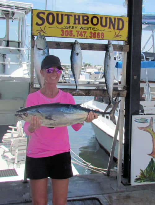Very big bonito caught in Key West on charter boat Southbound