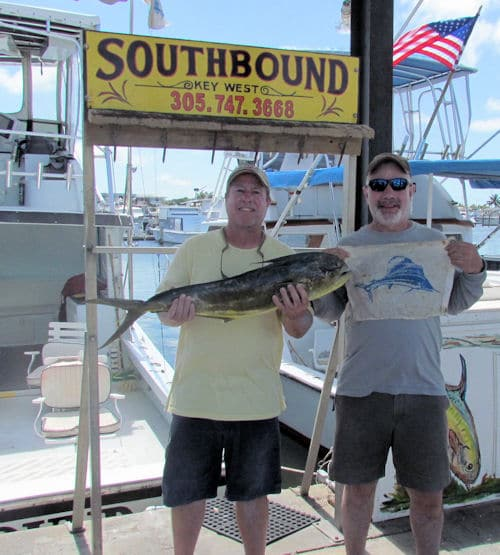 Sailfish and Dolphin caught on charter boat Southbound in Key West Florida
