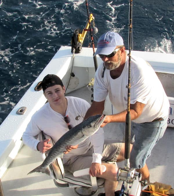 Barracuda caught and released in Key West fishing on charter boat Southboun