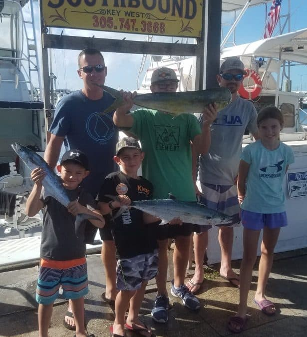Dolphin and Cero mackerel caught in Key West fishing on charter boat Southbound