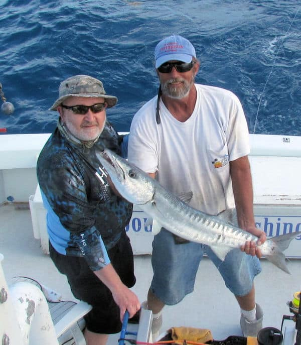 Big Barracuda caught and released in Key West fishing on charter boat Southboun