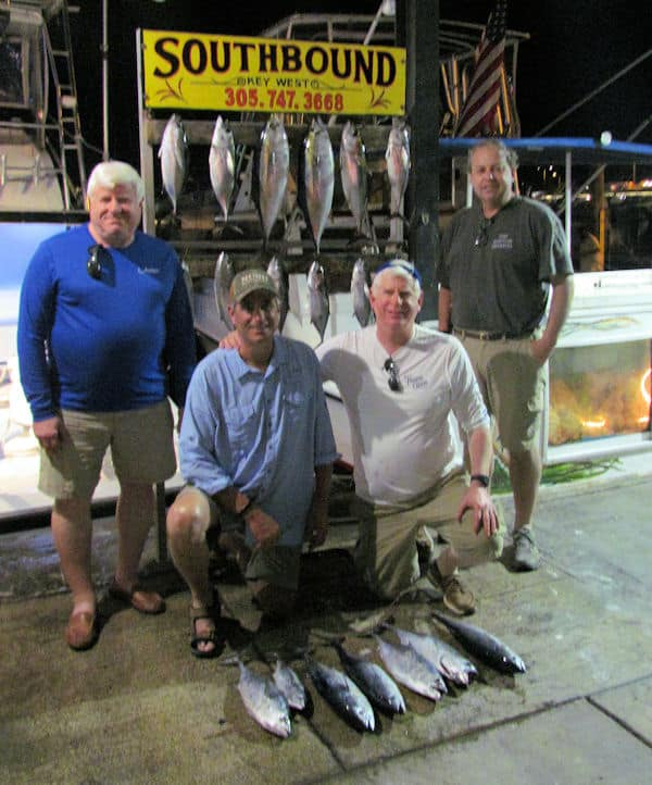 Nice catch of Black Fin Tuna and a few big Bonitos caught on Charter Boat Southbound in Key West Florida