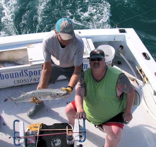 Barracuda caught and released fishing in Key West Florida