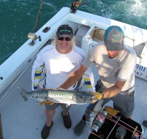 Barracuda caugth in Key West fishing around the Vandenberg wreck