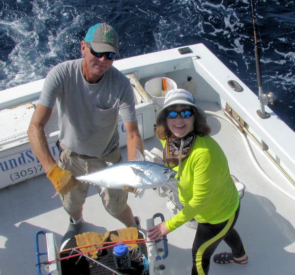 Big Bonito caught and released in Key West on the reef