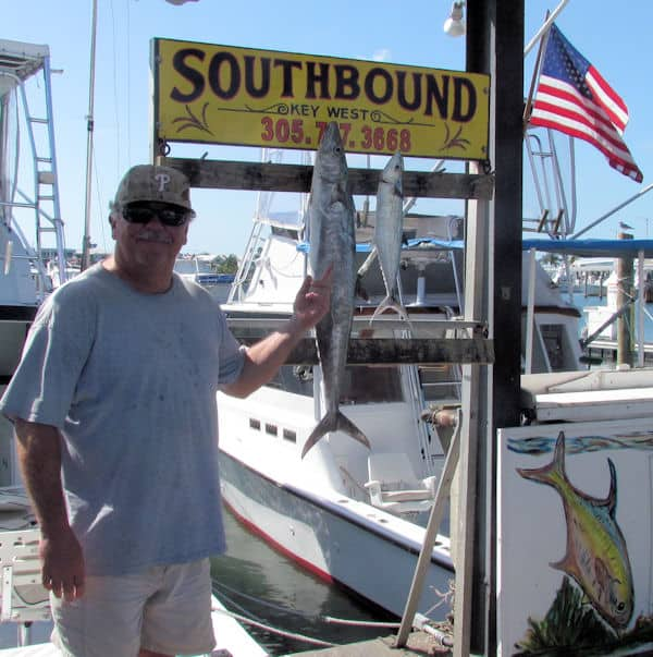 Kingfish and cero mackerel for dinner in Key West fishing with chargter boat Southbound