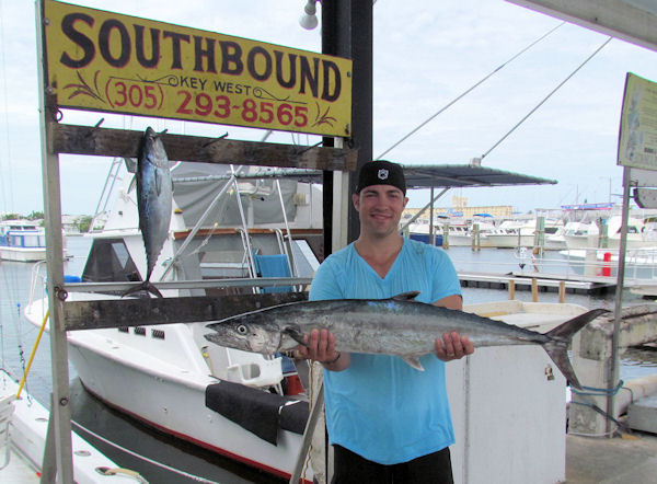 Big King Mackerel caught in Key West fishing on charter boat Soutbound