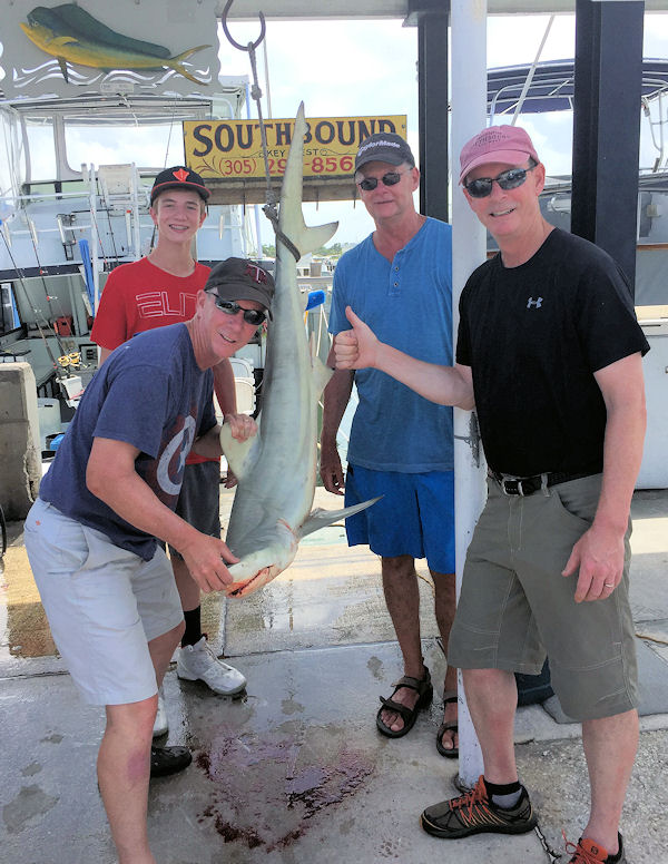 Black Tip Shark caugth in Key West fishing on charter Boat Southbound