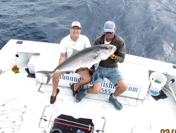 Amberjack caught in Key West fishing on charter boat Southbound