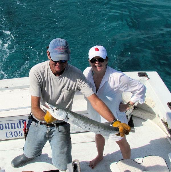 Barracuda caught in Key West fishing on charter boat Southbound