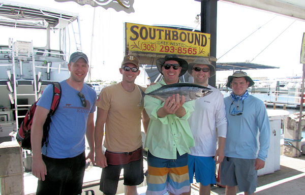 SkipJack Tuna caugth in Key West fishing on charter Boat Southbound
