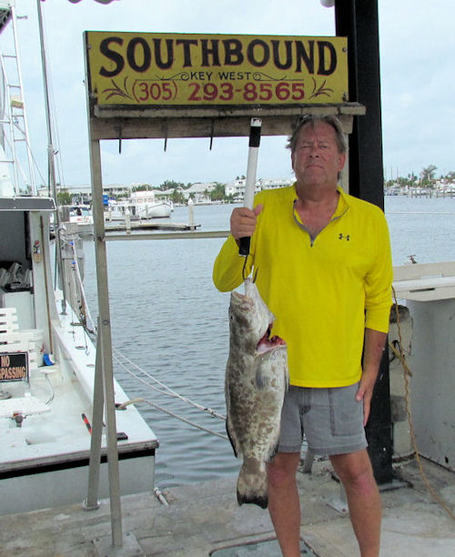 Grouper caugth in early part of open season while in Key West fishing on charter boat Southbound