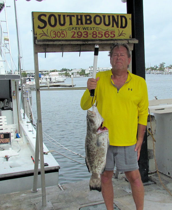 Black Grouper caught in Key West fishing on charter boat Southbound