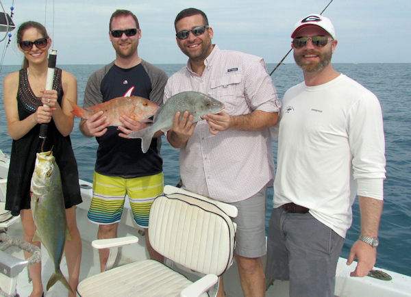 Fish caught  in Key West fishing on charter boat Southboun