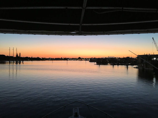 Early morning departure for fishing in Key west on the Charter Boat Southbound