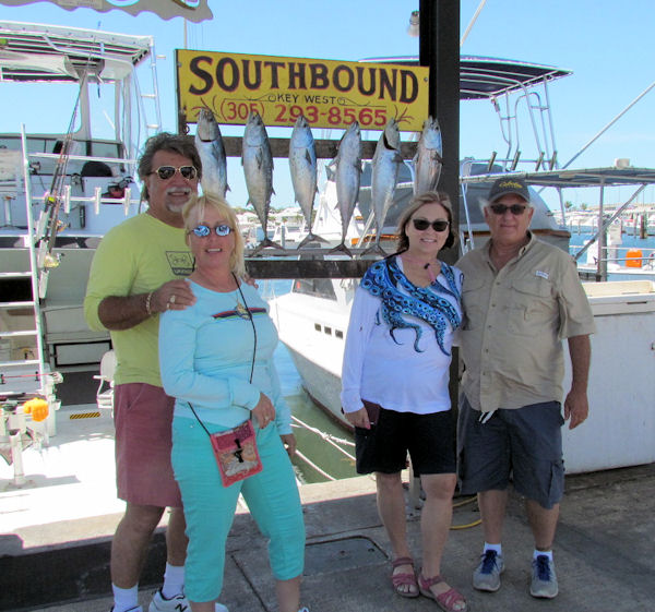 Bonitos caught in Key West fishing on charter boat Southbound