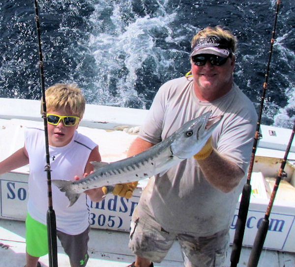 Barracuda caught and released in Key West fisihing on charter boat Southbound