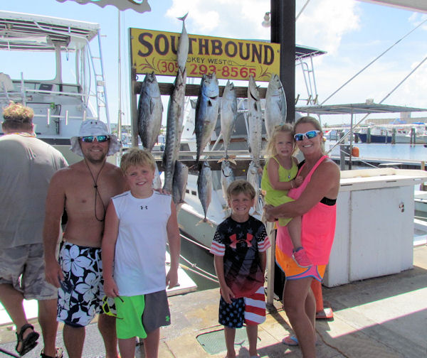Fish caught in Key West fisihing on charter boat Southbound