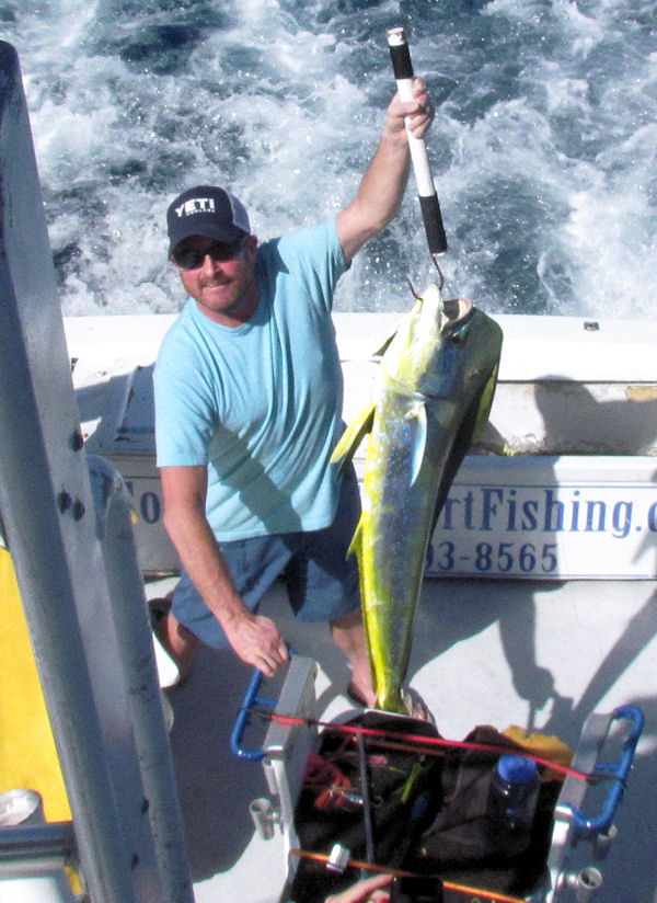 Large mahi makes for a great day charter fishing in Key West
