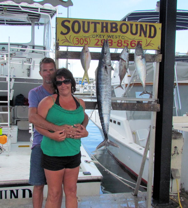 NiceWahoo caught in Key West fishing on charter boat Southbound