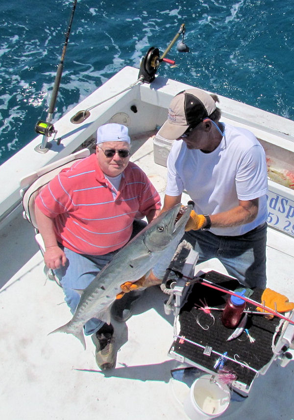 Huge Barracuda caught and released in Key West fishing on charter boat Southbound