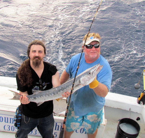 Big Barracuda caught and released in Key West fishing on charter boat Soutbound