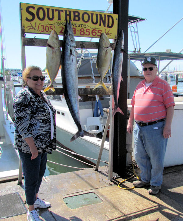 Big Wahoo and some Delicious Yellow Jacks caught in Key West fishing on charter boat Southbound