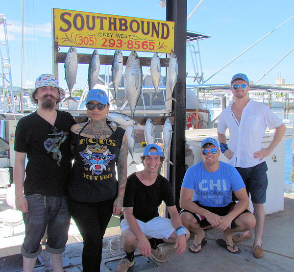 Bonitos and a Tuna caught in Key West fishing on charter boat Soutbound