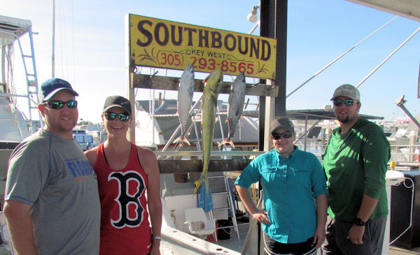 Dolphin, Tuna and a bonito caught  in Key West fishing on charter boat Southbound