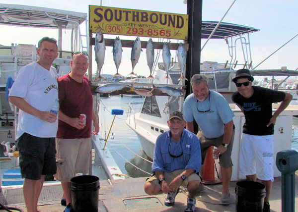 Bonitos caught in Key West fishing on charter boat Soutbound