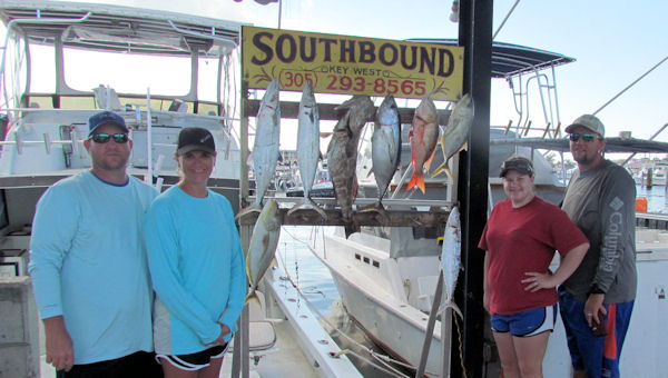 Delicious reef fish caught  in Key West fishing on charter boat Southbound