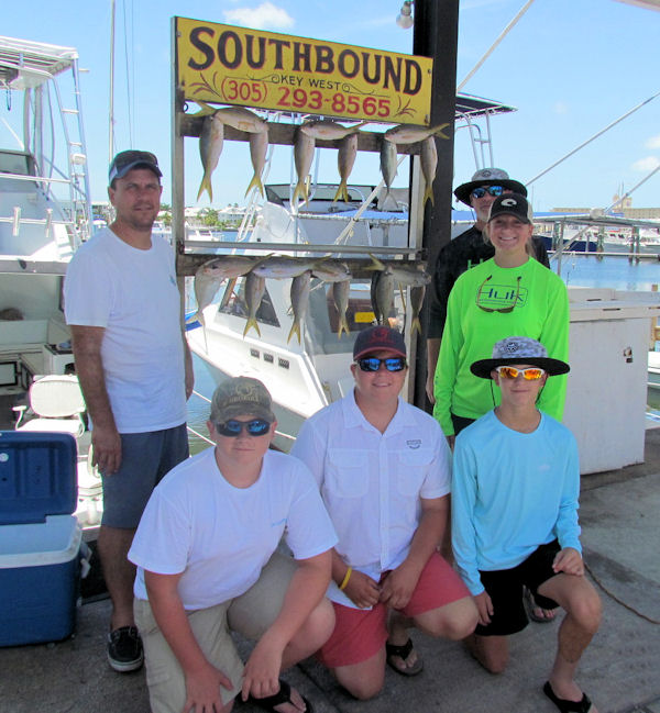 Yellowtail snapper caught in Key West fishing on charter boat Southbound