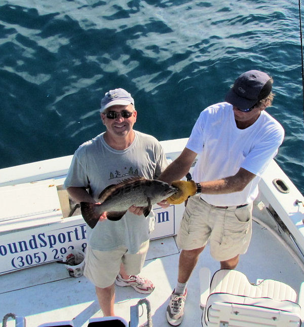 Black Grouperr caught and released fishing Key West on charter boat Southbound from Charter Boat Row Key West