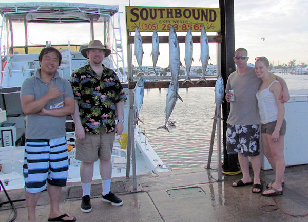KIngfish and Cero Mackerel caught fishing Key West on charter boat Southbound from Charter Boat Row Key West