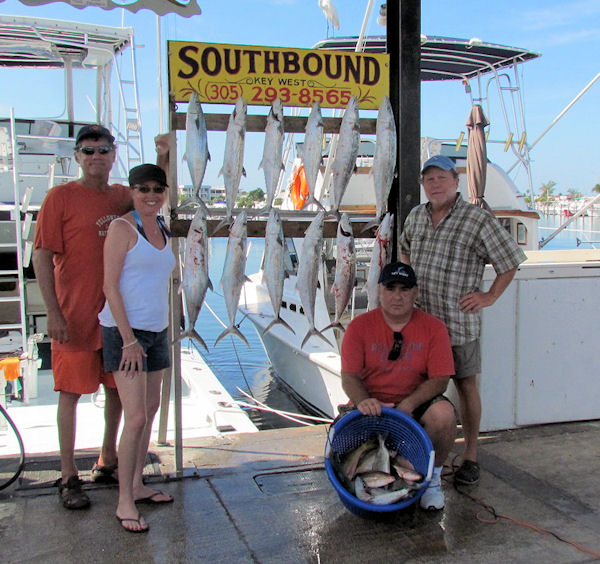 Cero Mackerel and Yellow Tail Snapper caught fishing Key West on charter boat Southbound from Charter Boat Row Key West