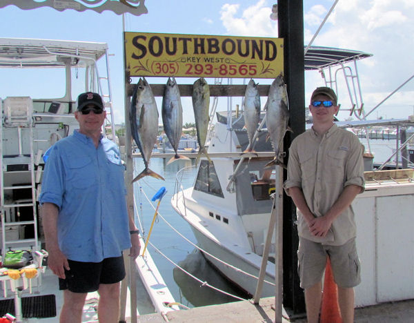 Tuna caught in Key West fishing on charter boat Southbound