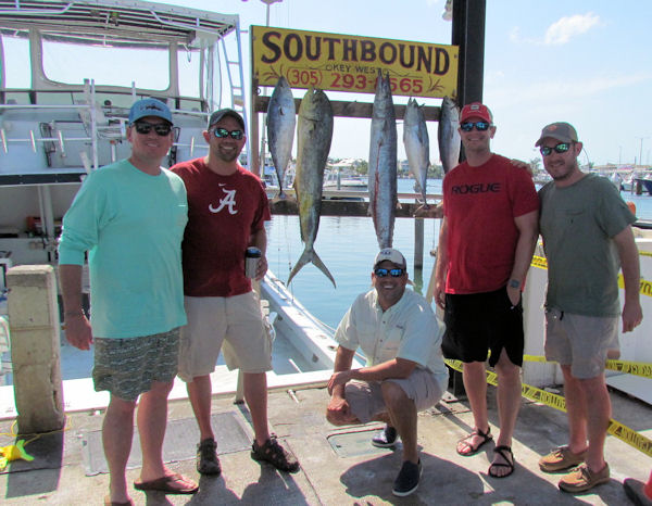 Dolphin, Wahoo and some bonitos caught in Key West fishing on charter boat Southbound